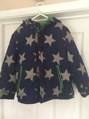 Boys mini boden coat age 5 6yrs stars fleece lined 24 for Mini boden schweiz