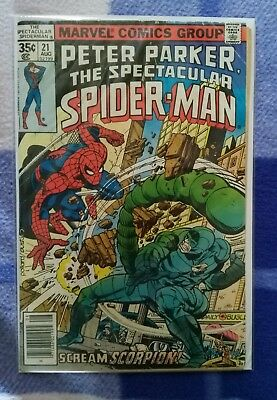 Peter Parker: The Spectacular Spider-Man (1st Series) #21 Bronze Age Marvel