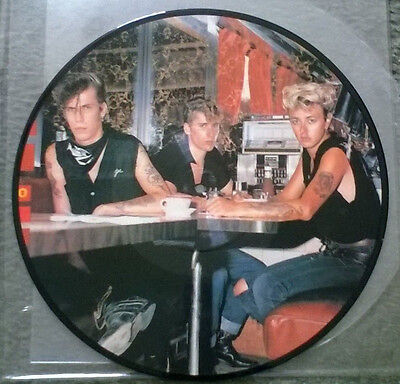 stray cats  -stray cats radio show,very rare picture disc lp,unplayed!