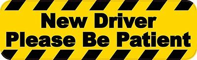 10in x 3in New Driver Please Be Patient Magnet Vinyl Sign Vehicle Bumper Magnets
