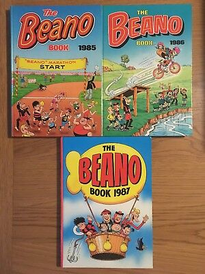 The Beano Book - 1985, 1986, 1987 annuals (clipped)
