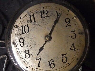 Vintage Explosion Proof  Electric Wall Clock  Steampunk Industrial GE