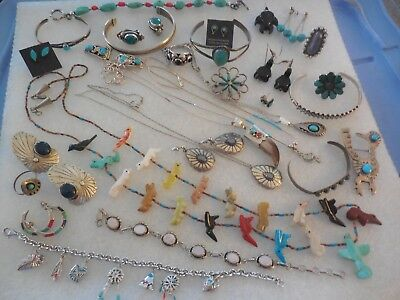 Sterling Silver, Navajo, Native American, South Western, Mexican Jewelry Lot
