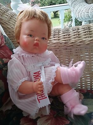 Ideal Tiny Thumbelina Doll OTT 14  Vintage 1960s- Working  & Tagged Dress