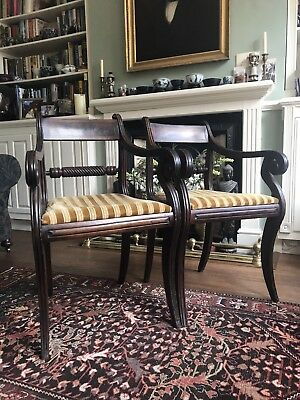 Antique Mahogany Regency Dining Chairs Circa 1820