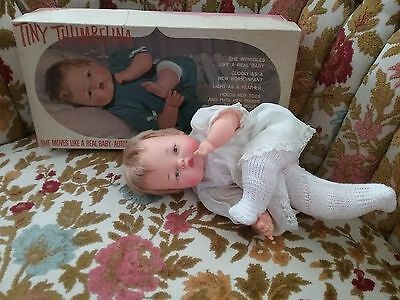 TINY Thumbelina Doll -Ideal- Vintage-- 1960s-With Box & Original Clothes