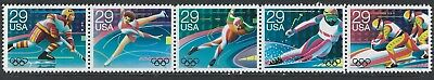 United States - #2611-# 2615 - Albertville Winter Olympics Strip Of 5 (1992) Mnh