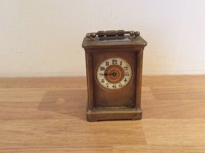 19th Century French ANTIQUE BRASS CARRIAGE CLOCK Spares Or Repair