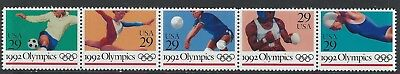 United States - #2637-#2641 - Barcelona Summer Olympics Strip Of 5 (1992) Mnh
