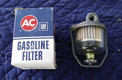 NOS C1 Corvette Chevy Fullsize 327 348 409 Hi Po Fuel Gas Glass Filter AC GF48