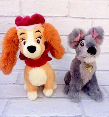 Lady & The Tramp Disney Store Soft Plush Toys Christmas Lady