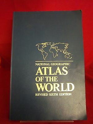 National Geographic Atlas of the World; 1995; VG PB; 161025