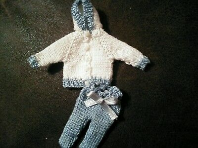 Hand knitted miniature outfit(dolls house)