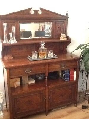 Superb Antique Walnut Sideboard - Quality Made By Maple, Stunning Condition