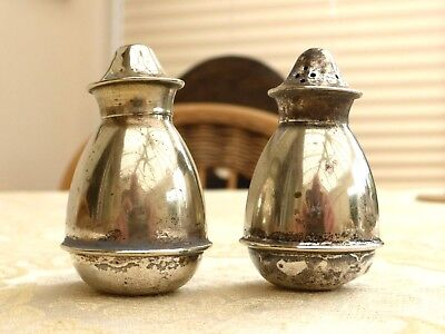 Pair Of Art Deco Silver Plated Salt And Pepper Cellars   #1270241/244