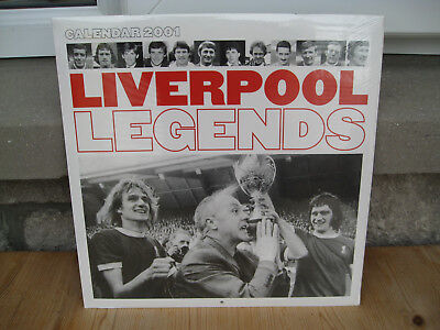 LIVERPOOL FOOTBALL CLUB . LEGENDS CALENDER 2001 . Unopened