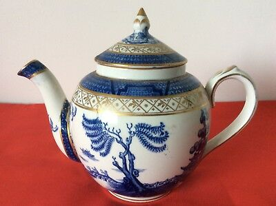 Beautiful Old Booths Real Old Willow Large Gold Round Teapot