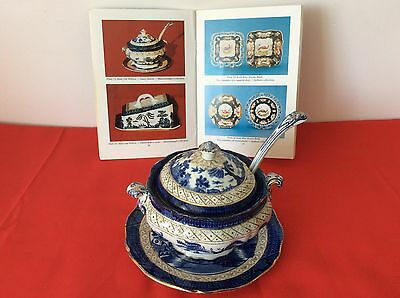 Booths - Real Old Willow Sauce Tureen Complete With Ladle & Underplate