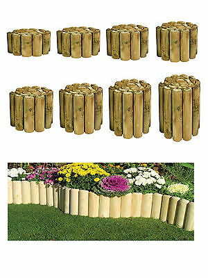 log Rolls Garden border lawn edging available in 10 heights / log roll