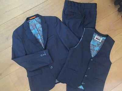 VCG NEXT Tailoring 3-piece Boys Navy Suit – trousers, waistcoat & jacket.