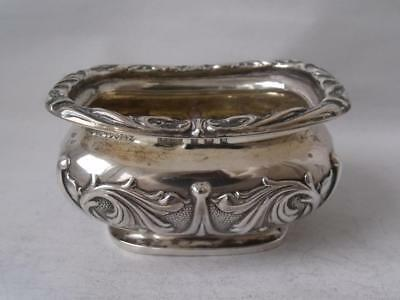 Art Nouveau Solid Sterling Silver Salt Pot 1907/ L 6.8 cm/ 43 g