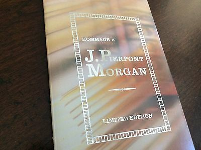 Montblanc J. Pierpont Morgan Dealer Brochure Booklet Documents