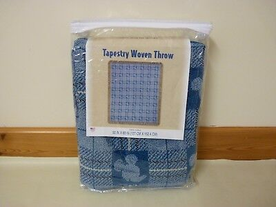"""Disney WDW Mickey Mouse tapestry woven throw Blanket Large 50"""" x 60"""" New"""