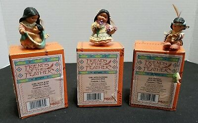 ENESCO Friends of the Feather Mini Figurines 1998 Lot of 3