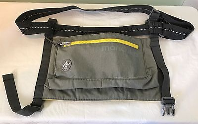 Manduka Yoga Mat Carrier Sling Bag Pouch Gray & Yellow  Athletic Back To School