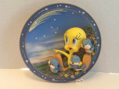 WISHES OH SO TWEET Tweety 3D Collectible Bradford Exchange 1998 Collector Plate
