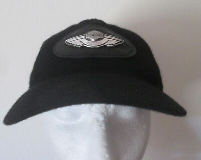 Harley Davidson 100 Year Anniversay Hat Black Wool Collectible Unstructured