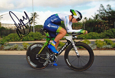 Daryl Impey - Autographed - Signed 8X12 inches Orica GreenEDGE Cycling Photo