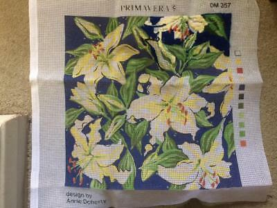 Vintage Primavera Tapestry Kit 'Lilies' Cushion Front