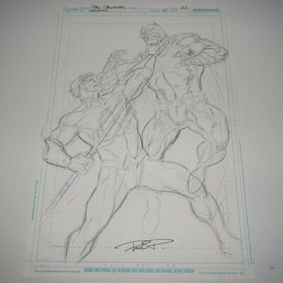 Original 11x17 New 52 Aquaman #15 PG 22 Preliminary Sketch Paul Pelletier Batman