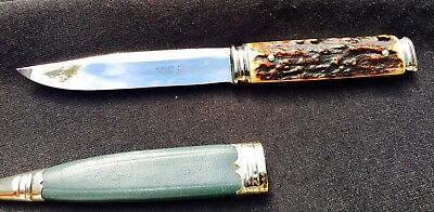 Vintage Othello Antonio Wingen Jr. STAG Fixed Blade Boot Knife Solingen Germany