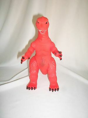 """GODZILLA RED KAIJU JAPAN MONSTER MEXICAN TOY KO BOOTLEG 7"""" ViNTAGE ARTICULATED"""