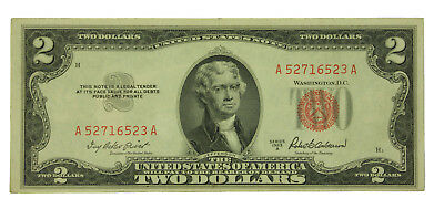 Lot Of (1) One 1953 A Series $2 United States Note. EF / AU Crisp SN# A52716523A