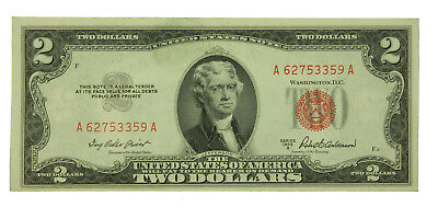 Lot Of (1) One 1953 A Series $2 United States Note. AU Crisp SN# A62753359A
