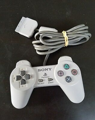 ORIGINAL OFFICIAL Sony PlayStation 1 PS1 Controller SCPH 1080 Gray Tested