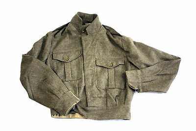 WW2 Battle Dress Jacket Ike Dads Army WWII Style Authentic UKGB Made Antique XXS