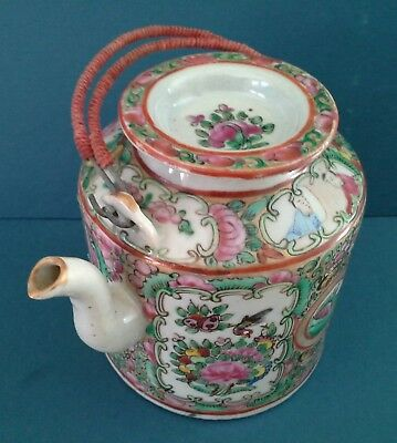 19th CENTURE CHINESE FAMILLE ROSE SMALL TEAPOT