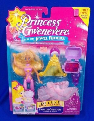 Vtg KENNER PRINCESS GWENEVERE DELUXE JEWEL ADVENTURE RIDERS MAGICAL NEW OS SEALD
