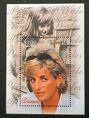 LIBERIA Souvenir Sheet DIANA, PRINCESS OF WALES $1.00 stamp on sheet royalty MNH