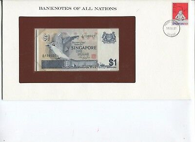 Singapore One Dollar note CRISP UNC  Banknotes of All Nations Limited Edition