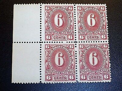 Hawaii 6c Kahului Railroad Block of 4 MNG