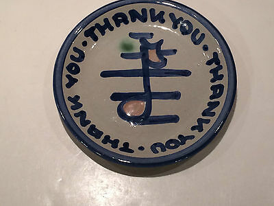 M.A. Hadley Thank You Musical Note Plate