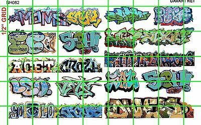 NH082 1/2 Set N SCALE MODERN GRAFFITI TAGGING URBAN CITY BOXCAR DAVE'S DECALS