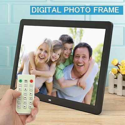 "15.6"" HD LED Digital Photo Frame Picture Album MP4 Video Movie Player+Remote US"