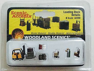 Woodland Scenics Accents 1/160 N Scale Loading Dock Details A2208 Factory Sealed