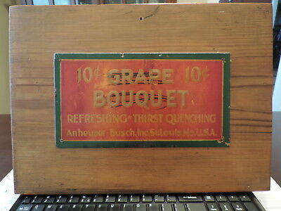 Vintage Pre Pro ANHEUSER BUSCH GRAPE BOUQUET 10c Sign Anheuser Busch St. Louis